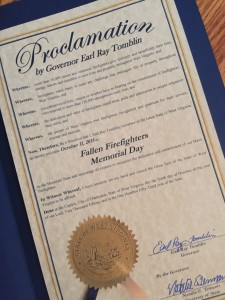 Proclamaition by Governor Tomblin
