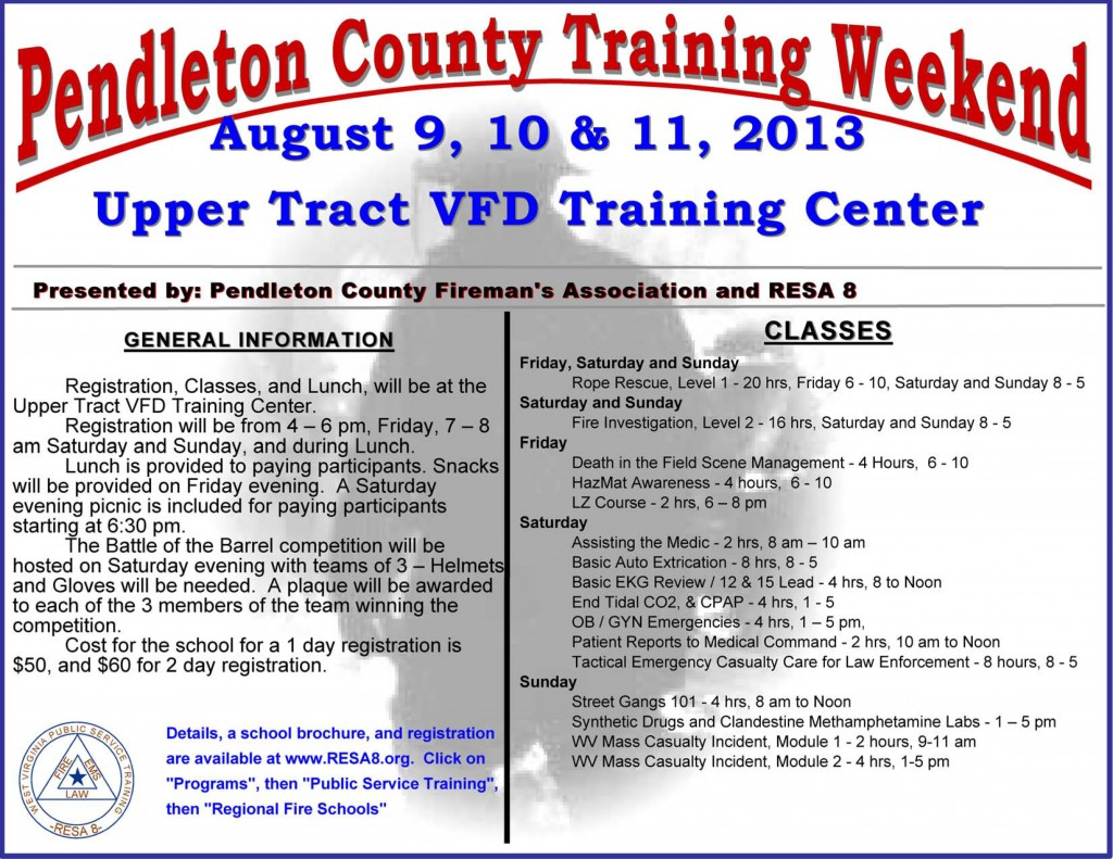 Pendleton County Fire Training